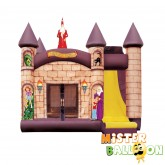 BROWN Bouncy Castle with Slide