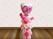 BABY GIRL HEART SHAPE BALLOON STANDING