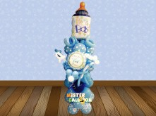 BABY BOY BABY BOTTLE BALLOON STANDING