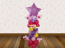 Baby Girl Standing Balloon with Star Super Shape Foil Balloon