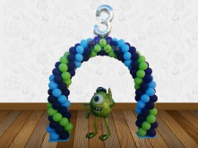 ARCH BALLOON MONSTER UNIVERSITY THEMED