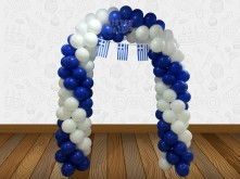 ARCH BALLOON SPIRAL DARK BLUE AND WHITE