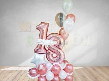 18 Rose Gold Balloon Bouquet