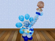 Baby Boy Standing Balloon with Foil Balloon Baby